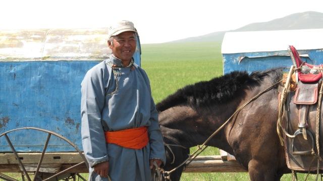 Nomadic Herder in Toson Khulstai, Eastern Mongolia