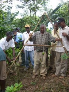 Constructing Erosion Controls in the Coffee Fields in the Dominican Republic