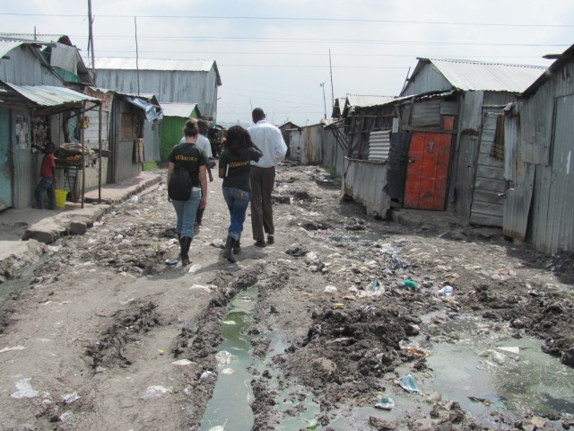 Team Timamu exploring the urban slums surrounding Nairobi, Kenya