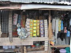 Typical kiosk in the slums surrounding Nairobi