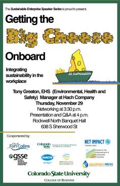 Getting the Big Cheese Onboard Event Poster