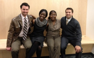 GSSE MBA students co-founding Akiba Cooking Solutions: Chris, Lucy, Faith, and Craig.