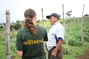 Michele from Mayan Terra working with farmers in Guatemala