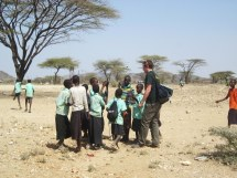Eric  with local children