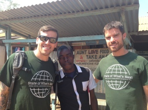 Eric and John working with Village Health Workers in Malawi