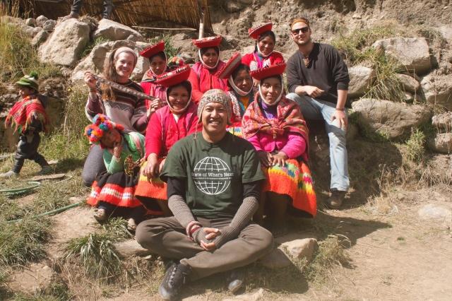 Fair Fibers visiting weavers in the altiplano of Peru
