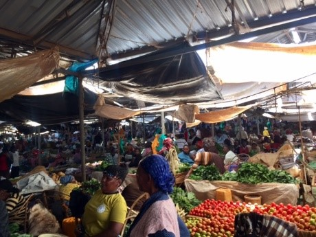 Vegetable market in Kenya