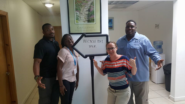 Colorado State University's GSSE MBA Waste Diversion Team were guest speakers at a Recycle BVI Talk.